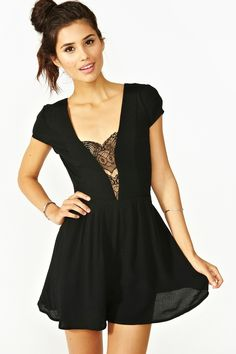 Don't Hold Back Romper - Black Dress