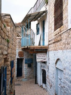 The narrow streets of Safed (Tzfat) in northern Israel. What secrets and marvels this area could contain...