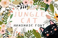 Jungle Cat Font by Mia Charro on @creativemarket
