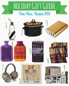 Holiday Gift Guide - For Her: Under $20 | Hey There Ray