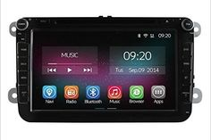 K-Navi 8 Inch Big Screen Car Bluetooth DVD Multimedia Player Quad Core GPS Navigation System Android 4.4.2 Includ Canbus For VW - For Sale