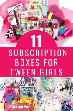 These awesome subscription boxes for tween girls are exactly what you need if you're looking for activities for tweens or a great tween girl gift idea! Monthly crates for tween girls with everything from accessories and beauty products to clothes and crafts! There's a tween girl subscription box perfect for your favorite tween! Make the gift giving part of parenting tweens easier! #tweens #tweengirl #tweengirlgifts #subscriptionboxes Tween Girl Gifts, Tween Girls, Subscription Boxes For Tweens, Teen Boxing, Craft Activities For Kids, Preschool Crafts, Kids Up, Mom Advice, Monthly Crates
