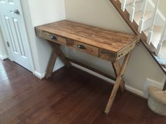 Pallet Desk with Drawers by IronCrafts on Etsy