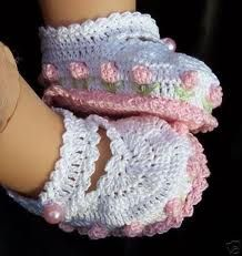 sapatinhos de croche para bebe passo a passo - Pesquisa Google                                                                                                                                                                                 Mais