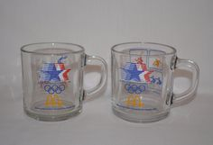 McDonald's 1984 Los Angeles XXIII Olympic Games Glasses ~ Set 2 ~ Anchor Hocking #McDonalds