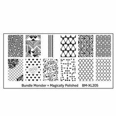 @bundlemonster  & Blogger (IG@magicallypolished) @mpolished  Collaboration Nail Art Polish Stamping Plates #bmXL205 Jade Nails, G Nails, Manicures, Geometric Nail Art, Geometric Shapes, Monster Nails, Bundle Monster, Heart Nail Art, Nail Art Stamping Plates