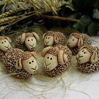 m.fler.cz zbozi?uid=91201 Christmas Crafts, Xmas, Christmas Ornaments, Sheep Crafts, Sheep Art, Pottery Animals, Clay Art, Sculpture, Ceramics