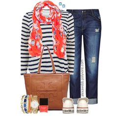 Plus Size - Spring Stripes by alexawebb on Polyvore#plussize #plussizefashion #outfit #alexawebb @alexandrawebb