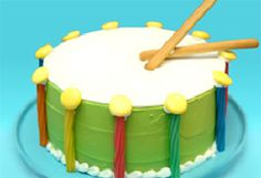 Fresh Beat Band Marina's drum cake is sure to make your next birthday party rock!