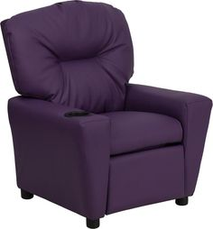 clean leather sofa with damp cloth set for sale cheap 42 best kids recliners images on pinterest born vaerelser child s recliner overstuffed padding comfort purple vinyl upholstery easy to cup holder in armrest solid hardwood frame
