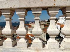 Vista sobre Alfama desde o Panteão Nacional, Lisboa, Portugal