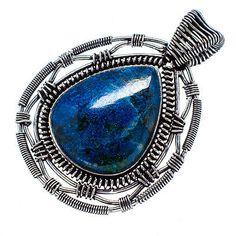 "Huge Shattuckite 925 Sterling Silver Pendant 2"" Ana Co Jewelry P555616"