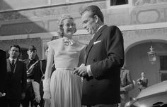 On April 18, 1956, the couple were legally wed in the baroque throne room in the Palace of Monaco in a civil ceremony attended by their close friends and family.