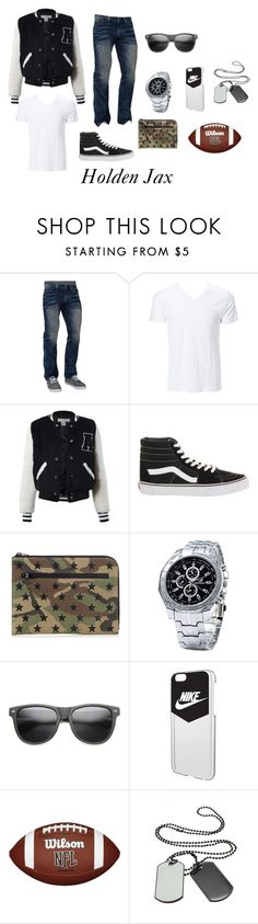 """Holden Jax"" by panda-girl01 on Polyvore featuring Affliction, Simplex Apparel, Sans Souci, Vans, Yves Saint Laurent, ZeroUV, NIKE, men's fashion and menswear"