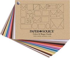 Paper Source Swatchbook: Color & Shape Guide >> $10 for a sample of all the paper they sell.