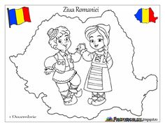 Romania coloring page Projects For Kids, Diy For Kids, Art Projects, Crafts For Kids, Fall Coloring Pages, Coloring Pages For Kids, Medan, Simple Christmas, Christmas Crafts