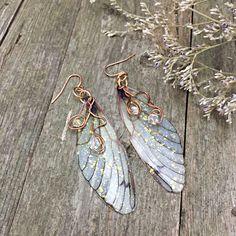 Fairy Earrings Insect Lovers Long Colorful Earrings Dragonfly Macrame Earrings Large Artisan Earrings Macrame Butterfly Earrings