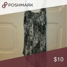 Black and white tank top Black and white tank top with floral design. Tops Tank Tops