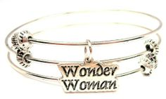 Amazon.com: Wonder Woman Expandable Triple Wire Adjustable Bracelet Made in the USA: ChubbyChicoCharms: Jewelry