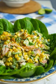 Smoked mackerel, avocado and sweetcorn salad - Well Worn Whisk Mackerel Salad, Smoked Mackerel, Feta Salad, Quick Recipes, Family Meals, Salad Recipes, Potato Salad, Food To Make