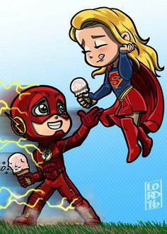 Lord mesa-art Supergirl and The Flash crossover