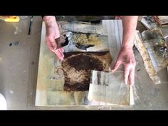 Mixed Media Collage with Bird and Nest (part 3) - YouTube