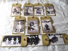 Old Pictures on small envelopes! On etsy!