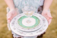 Such sweet patterns. Vintage tableware rentals and event styling - The Darling Dish - Bend, Or