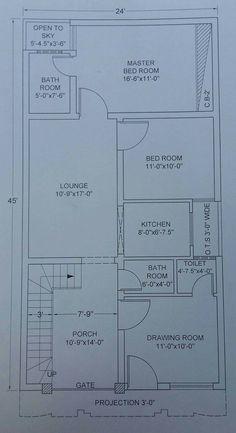 Home Architecture Design Simple 51 Ideas 10 Marla House Plan, 2bhk House Plan, Model House Plan, Small House Floor Plans, House Layout Plans, Simple House Plans, Duplex House Plans, Bedroom House Plans, House Layouts