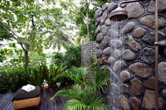Working for a travel agent, designing flyers for hotels in the Maldives, has made me want one of these amazing outdoor showers. This one is from Namale Fiji Resort and Spa.