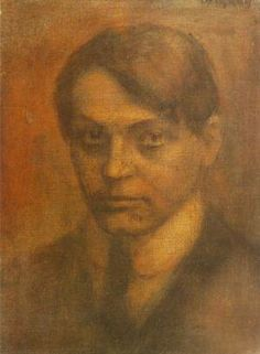 Portrait of Poet Endre Ady 1907 Painting Post Impressionism, Oil Painting Reproductions, Mona Lisa, Hand Painted, Portrait, Oil Paintings, Wallpaper, Artwork, Artist
