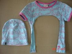 från t-shirt till mössa - Best Sewing Tips Old Baby Clothes, Sewing Clothes, Diy Clothes, Sewing For Kids, Baby Sewing, Diy For Kids, Sewing Hacks, Sewing Tips, Diy Fashion