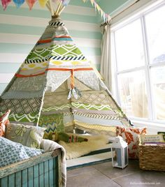 One very creative no sew teepee!