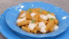 Tortiglioni con montata di pomodori - La cuoca bendata