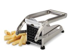 French fry slicer! ($69.95) Who doesn't need to make homemade french fries an easier thing to serve? Just don't pair this with a deep fryer!