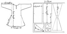 CTunic pattern - copyright N.Saunders by TheRiversEdge Viking Tunic, Viking Garb, Viking Dress, Viking Pattern, Medieval Pattern, Tunic Pattern, Historical Costume, Historical Clothing, Larp