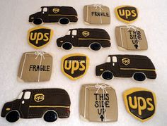 """UPS cookies for retirement party. """"It's Been a Good Ride"""""""