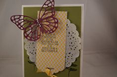 Stampinup Handmade Card Butterfly 3D Paper Doily by Serynanne