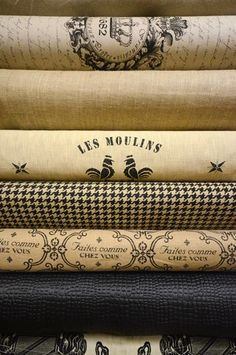 Black & Cream French Country Textiles