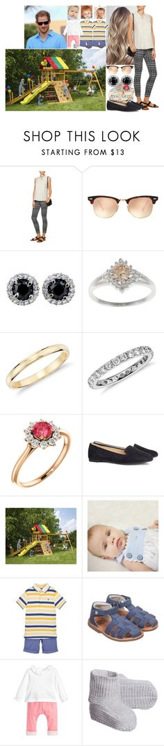 """""""Taking the kids to a playground where Jonathan and Johannes spent almost 2 hours with sliding"""" by charlottedebora ❤ liked on Polyvore featuring Diane Von Furstenberg, Ray-Ban, Blue Nile, H&M, DutchCrafters and Petit Bateau"""