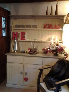 Upcycled pine dresser Pine Dresser, Upcycle, Kitchen Cabinets, Christmas, Home Decor, Xmas, Upcycling, Upcycled Crafts, Weihnachten