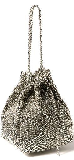 SG Liquid Metal Classic mesh bag by Sergio Gutierrez.    ᘡղbᘡ