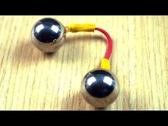 What you need : Neodymium Magnet + Wooden Skewers + Steel nails + Yarn + Glue Rubber band + 2 Chrome Steel Bearing Balls + Electric Copper Wire (solid . Diy Fidget Spinner, Fidget Spinners, Diy Fidget Toys, Small Airplanes, Steel Nails, Super Strong Magnets, Diy Magnets, Science Toys, Desk Toys