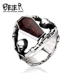 AMAZING DEAL ON! Stainless Steel - Undertaker Skull Ring GEEK OUT!! #geek #shopgeekfreak