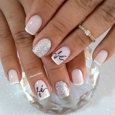 Que nota de 0 a 10 para esta unha? in 2019 Cute Acrylic Nails, Acrylic Nail Designs, Nail Art Designs, Love Nails, Pretty Nails, My Nails, August Nails, Stylish Nails, Nail Art Hacks