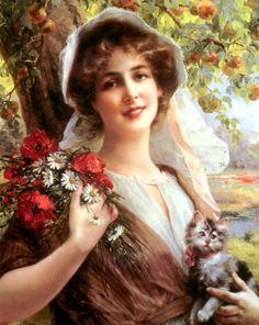 Приятно, видеть женщину с цветами,когда глаза сияют нежной добротой...| Emile Vernon. Обсуждение на LiveInternet - Российский Сервис Онлайн-Дневников