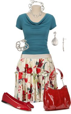 """""""Pleated Skirt"""" by my-pretend-closet ❤ liked on Polyvore"""