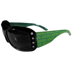 Oregon Ducks NCAA Women's Rhinestone Designer Sunglasses