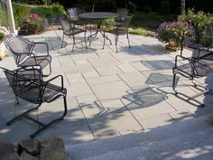 Easy to maintain and keep clean, a granite paver patio is far less work then that of decking - and far more durable.
