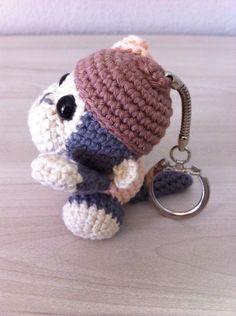 Gratis patroontje sleutelhanger aapje! Te zien op www.facebook/liefenuniek